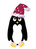 Christmas penguin cartoon Stock Photography