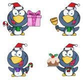 Christmas penguin collection Stock Photos