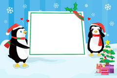 Christmas penguin design background Royalty Free Stock Photos