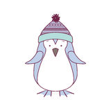 Christmas penguin icon. Penguin with hat cartoon icon. Merry Christmas season decoration figure theme. Isolated design. Vector illustration Royalty Free Stock Image