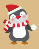 Christmas penguin Stock Photos