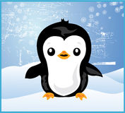 Christmas Penguin Snow Stock Images