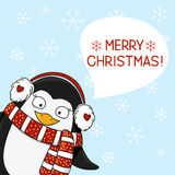 Christmas penguin Royalty Free Stock Photography