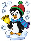 Christmas penguin topic image 1 Royalty Free Stock Photos
