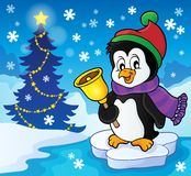 Christmas penguin topic image 2 Stock Images