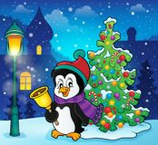 Christmas penguin topic image 4 Royalty Free Stock Photo