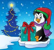 Christmas penguin topic image 6 Stock Images