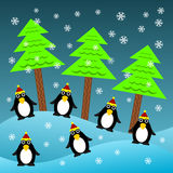 Christmas penguins Royalty Free Stock Photography