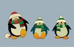 Christmas penguins Royalty Free Stock Photos