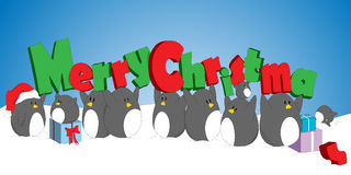 Christmas Penguins Stock Photo
