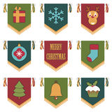 Christmas pennants Stock Image