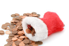 Christmas Pennies Stock Images