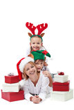 Christmas people heap Stock Photo