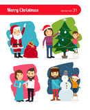 Christmas people Stock Image