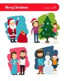 Christmas people Stock Image