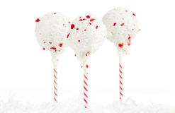 Christmas Peppermint Cake Pops Stock Images