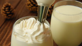 Christmas peppermint white hot chocolate stock video