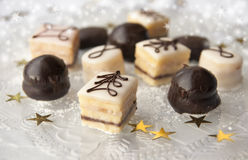 Christmas petifores. A selection of Christmas or holiday petifores Stock Photography