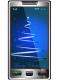 Christmas and phone Royalty Free Stock Image