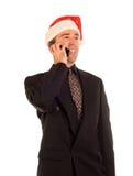 Christmas Phone Call Royalty Free Stock Image