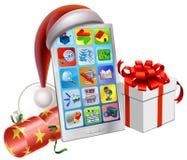 Christmas Phone Illustration Royalty Free Stock Photos