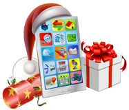 Christmas phone illustration Royalty Free Stock Photos