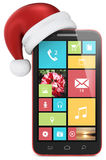 Christmas Phone. Stock Photo