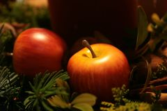 Christmas photo - apple Royalty Free Stock Photography