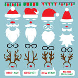 Christmas Photo Booth and scrapbooking vector set Royalty Free Stock Photography