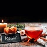 Christmas Photo Design Emphasizing Relax Stock Photo