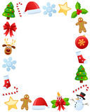 Christmas Photo Frame [1]. Photo frame, post card or page for your scrapbook. Subject: Christmas ornaments, isolated on white background. Eps file available Royalty Free Stock Photo