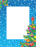 Christmas photo-frame vector illustration