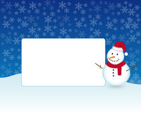 Christmas photo frame. A Christmas photo frame with snowman under the snow Stock Photography