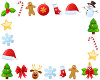 Christmas Photo Frame [2]. Photo frame, post card or page for your scrapbook. Subject: Christmas ornaments, isolated on white background. Eps file available Stock Photography