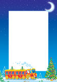 Christmas photo frame Stock Photography