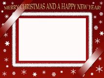 Christmas photo frame Stock Images