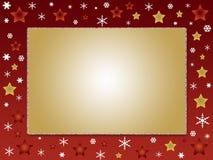 Christmas photo frame. Christmas card and photo frame Royalty Free Stock Image