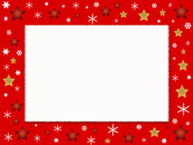 Christmas photo frame. Christmas card and photo frame Stock Image