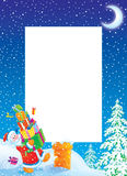 Christmas photo frame / border with Santa Claus Royalty Free Stock Photo