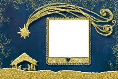 Christmas photo frame card Stock Images