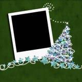 Christmas photo frame  Christmas tree Royalty Free Stock Image