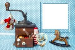 Christmas photo frame greeting card Stock Photography