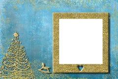 Christmas kids photo frame greeting cards. Stock Photo