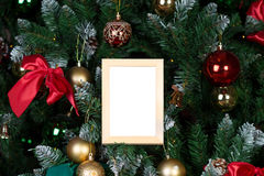 Christmas photo frame. Ready for your picture or text stock photography
