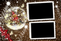 Christmas Photo Frames For Two Photos Royalty Free Stock Photo