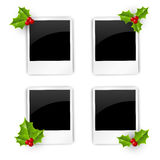 Christmas photo frames. Set of Christmas photo frames Stock Image