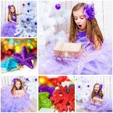 Christmas photo with a little girl Royalty Free Stock Photo