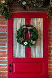 Christmas photo zone in vintage style. Room Christmas Tree, Xmas Home Interior Decoration, Toys, Christmas decorations, Christmas decorations, photo zone Stock Photos