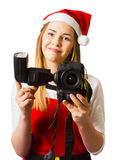 Christmas photography helper Royalty Free Stock Images