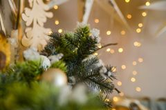 Christmas photoscene, Merry Christmas royalty free stock images